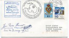 1987 Belgian Antarctic Research Programe RCMG Polarstern Polar Cover SIGNED