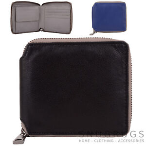 Pouch Mens Soft Leather Money Coin Purse Womens Ladies Wallet