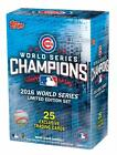 Official 2016 Chicago Cubs Topps World Series Champions Limited Edition Box Set