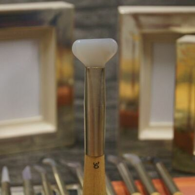Achatpolierstein Größe 30 zum vergolden Blattgold Blattsilber Gold