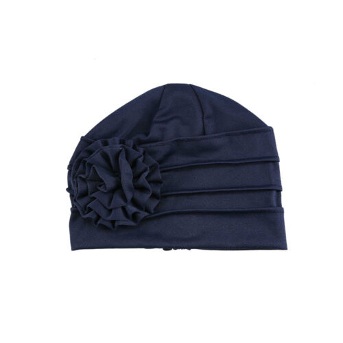 Women/'s Big Flower New Cancer Chemo Hat Turban Cap Cover Hair Loss Head Scarf UK