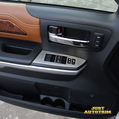 Details about for 2014-2017 Toyota Tundra Chrome Interior Door Window  Switch cover trims