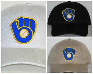 f7ae9ccc9ff28 Milwaukee Brewers Air Mesh Cap ⚾️Hat ⚾️CLASSIC MLB PATCH LOGO ...