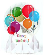 3D Pop Up Snow Globe greeting card - BIRTHDAY BALLOONS - #UP-WP-EG-012
