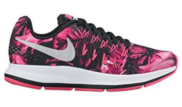 84d9eff3104f Nike Zoom Pegasus 33 Print GS Youth Size 7y Pink Floral blk 854170 ...