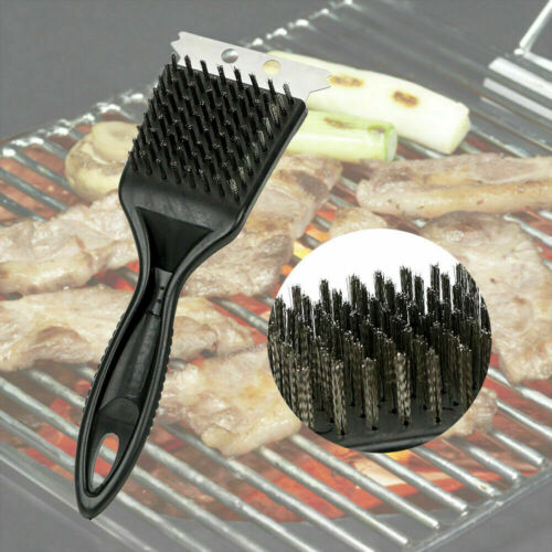 Heavy Duty Barbecue BBQ fil brosse de nettoyage /& grattoir Grill Four Nettoyant Outil UK