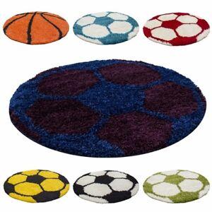Tapis-pour-Enfants-Poils-Longs-Football-Basketball-Design-Chambre-D-039-Enfants