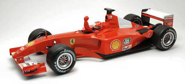 Ferrari F2001 World Champion 2001 M.Schumacher 53956 1/18 Hot Wheels con vetrina