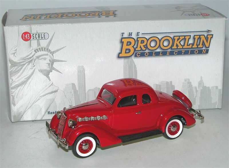 Brooklin models BRK 90 - 1953 PLYMOUTH de luxe 3-window Coupe-Flame rouge - 1 43