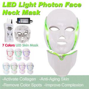 7-Color-LED-Light-Photon-Face-Neck-Mask-Rejuvenation-Skin-Facial-Therapy-Wrinkle