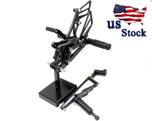 Fit HONDA CBR600RR CBR600 F4 CBR954RR CBR929RR YZF R1 ZX10R Rearset Footrest Peg