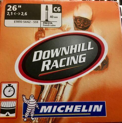 "Michelin C6 Downhill Racing Mountain Bike Inner Tube 26/"" x 2.1-2.6 PRESTA VALVE"