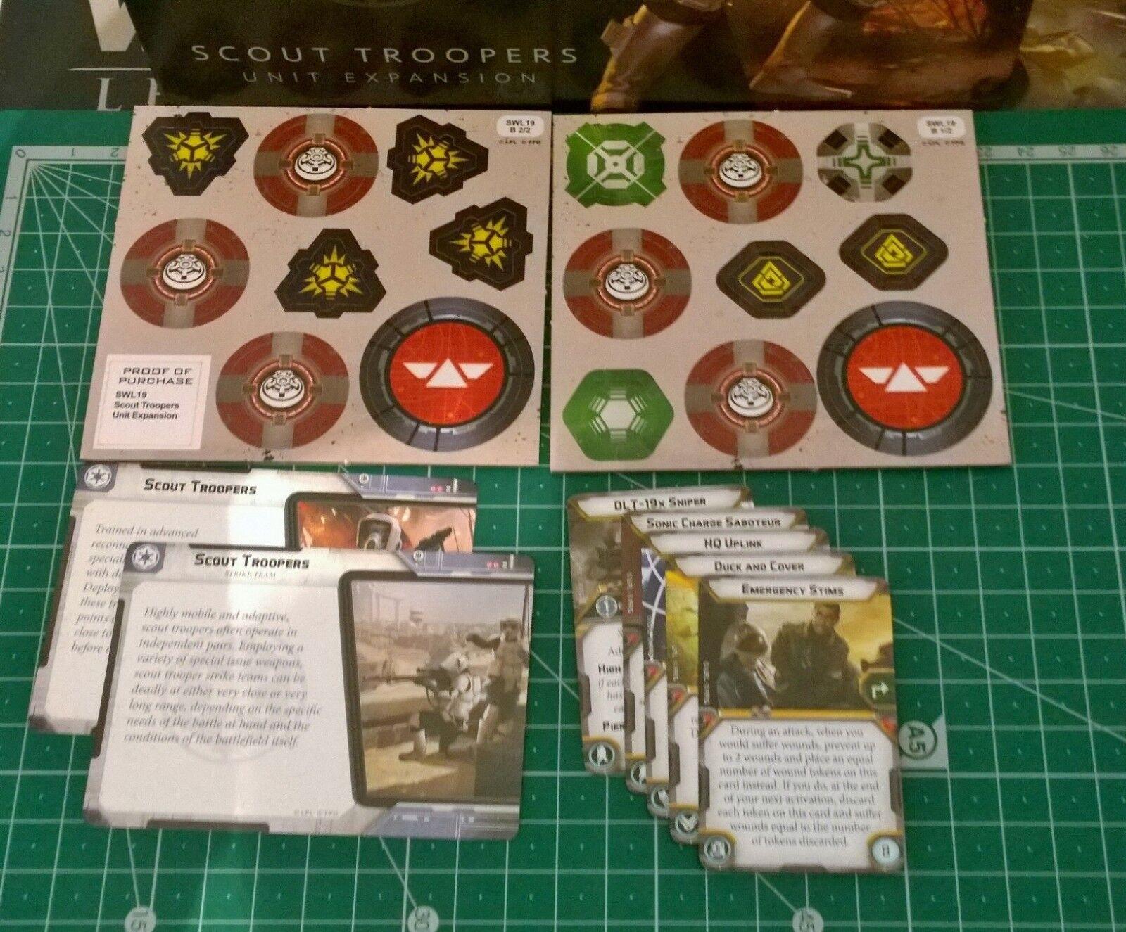 Star wars wars wars legion Scout Troopers, Endor Biker Scouts Painted, miniatures f36457