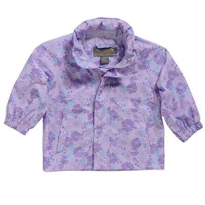 Regatta Splatter Girls Waterproof Breathable Jacket Purple Age 12-18 months
