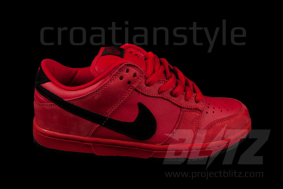 NIKE DUNK faible PRO SB TRUE rouge Sz 10.5 TRUE rouge noir 304292-601