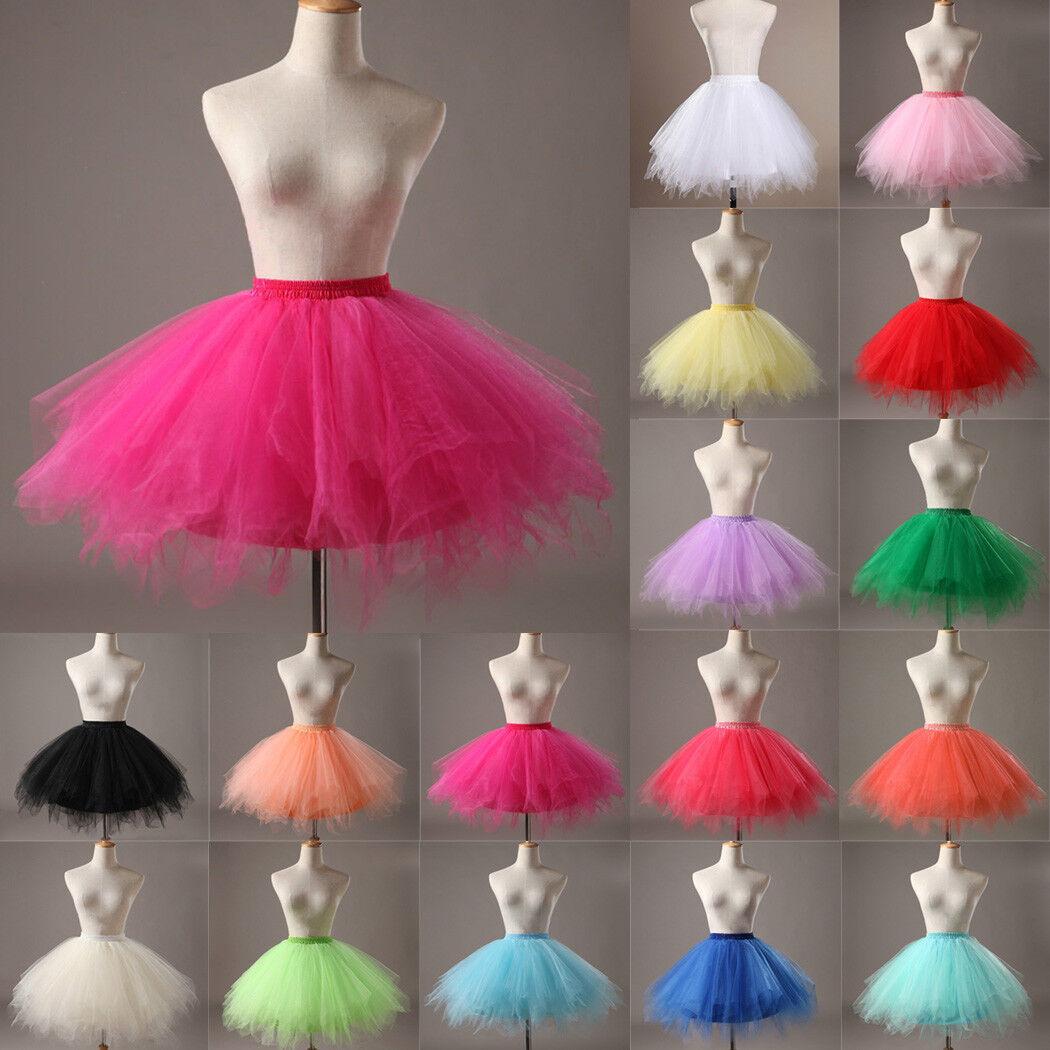 Hot Women Adult Lady Tutu Tulle Skirt Fancy Skirt Dress Up Party Dancing Dress 5