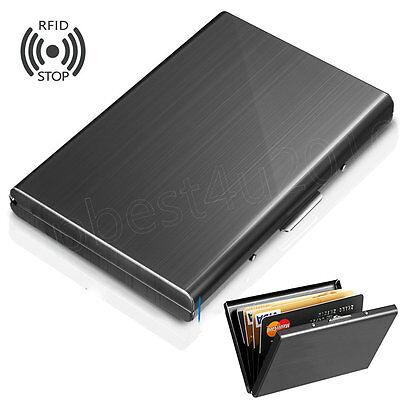 brand new f5046 c48e7 6 Slots Aluminum Metal Slim Credit Card Holder RFID Blocking Thin Wallet  Case | eBay