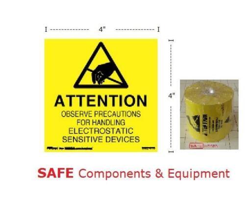 ESD 4x4 Labels QTY-498 Electrostatic Sensitive Devices Anti-Static Sticker B35