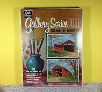 Craft Master Gallery Series Iii Oil Paint By Numbers Set Covered Bridge