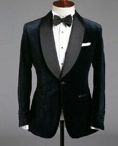 54ce55944 Details about Mens Black Velvet One Button Stylish Tuxedo Blazer Dinner  Party Wear Coat Jacket