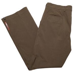 Prada Para Hombres Pantalones De Rendimiento Deportivo De Utilidad Nylon Marron Tamano 34 X 32 Ebay