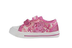 Größen de Details Rosaamp; Chaussures Tennis Mädchen Weiß Peppa Schlaufe Enfants Haken Pig Sich Zu 4 Pk80wZNOXn