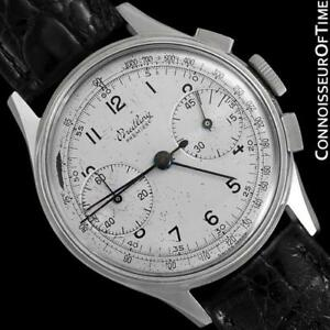 1945-BREITLING-PREMIER-Vintage-Full-Size-Pilot-039-s-Chronograph-Stainless-Steel