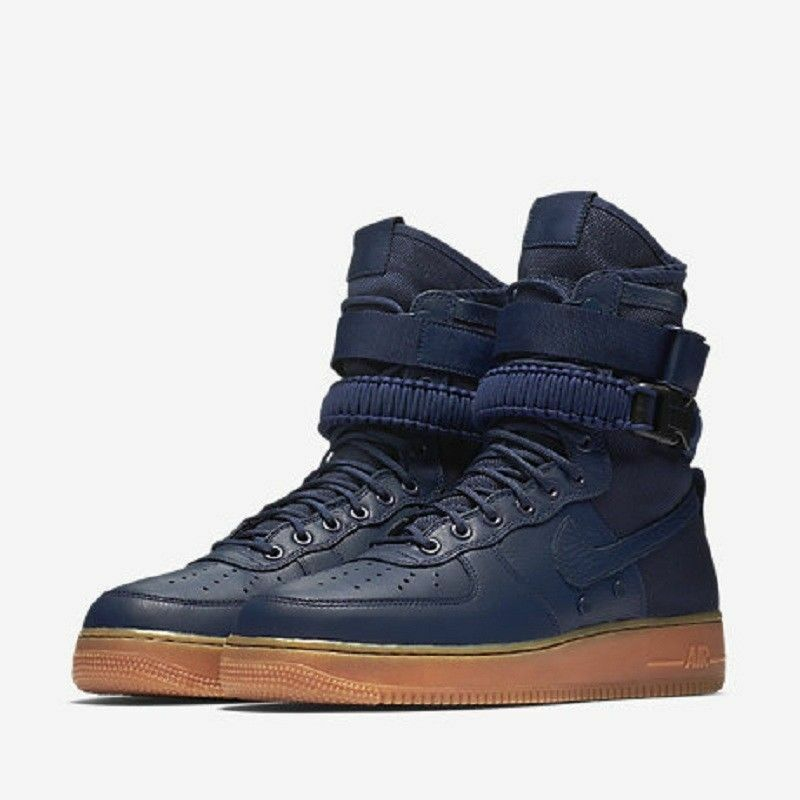 NIKE SF AIR FORCE 1 MIDNIGHT NAVY GUM MEN MEN MEN SIZE 8.5 NEW 864024 400 9eca78