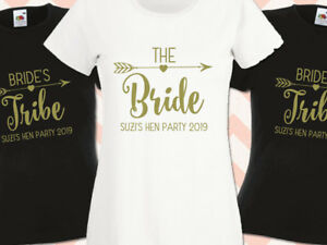 Brides-Tribe-Bride-Hen-Party-T-Shirts-Hen-Do-T-shirt-Ladies-Printed-Personalised