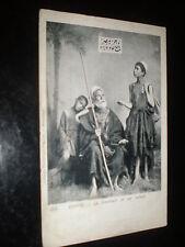 Old  postcard arab beggar and children Egypt c1900s