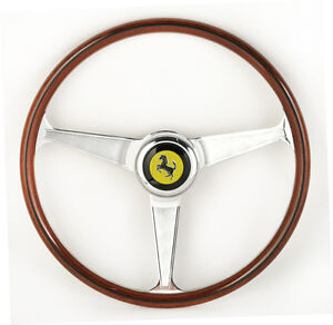 ferrari 206 246 gt gts nardi wood steering wheel new. Black Bedroom Furniture Sets. Home Design Ideas