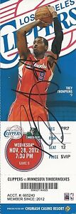 Blake Griffin Signed Los Angeles Clippers Ticket Stub JSA