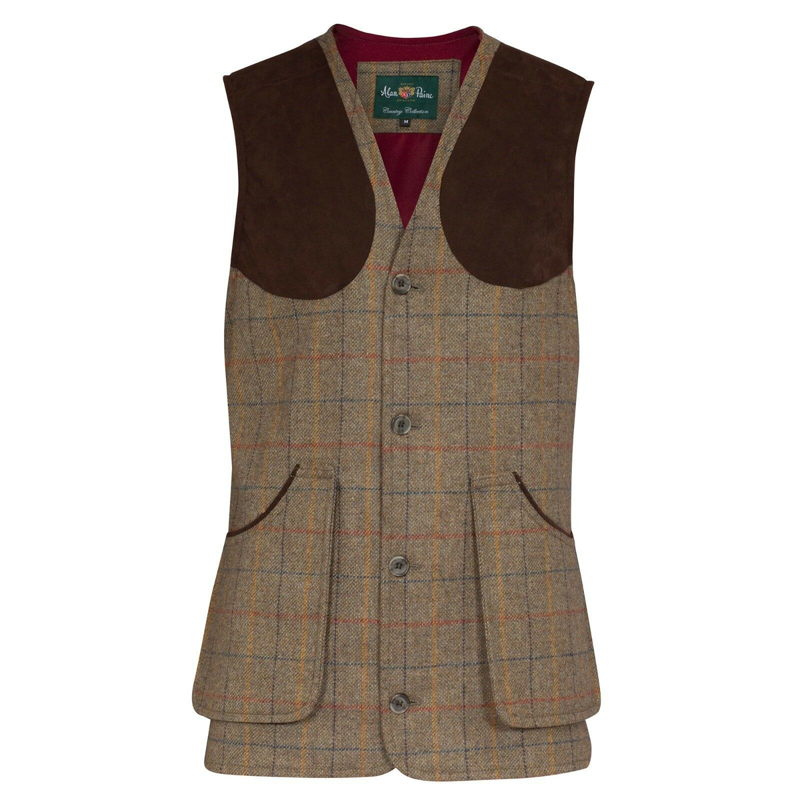 Alan Paine Surrey Tweed Tiro Chaleco-Todas las Tallas