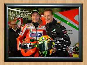 Moto GP All Riders Team Season Valentino Rossi Signed Autographed A4 Print Photo