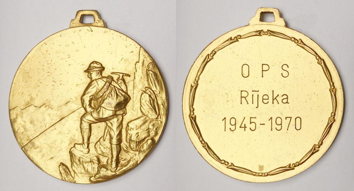 Croatia - OPS Rijeka 1945-1970 Fiume Mountaineering Club - commemorative medal