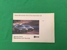 Genuine Saab Service Book. Covers All 1995 Models Unused Brand New