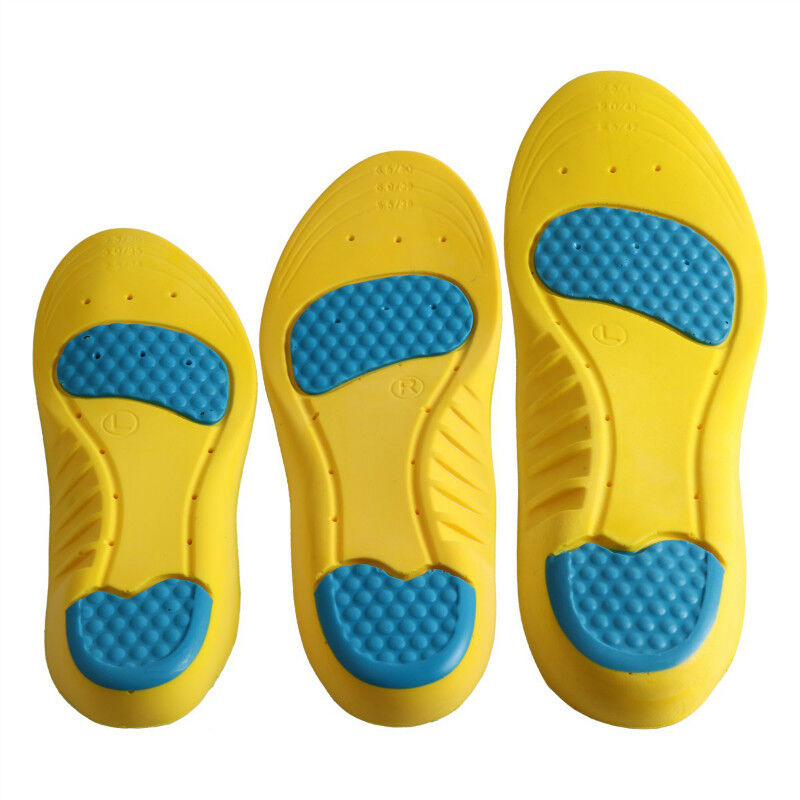 Gel Cushioning Running Arch Support Pain Relief Insert Sport Shoe Insole Pad *