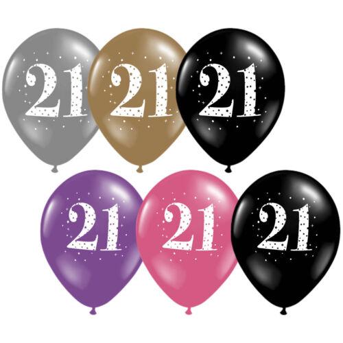 Rosa Oro Negro celebración fiesta provisiones Globos De Látex Impresos Feliz Cumpleaños