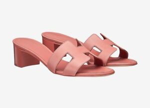9379f95ead2e Image is loading NIB-Hermes-Oasis-Sandals-Rouge-Blush-Size-36-