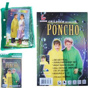 Consciencieux Poncho Enfant Imperméable Pluie à Capuche Vêtements De Pluie Manteau Enfants Cape Veste Légère-afficher Le Titre D'origine AgréAble En ArrièRe-GoûT