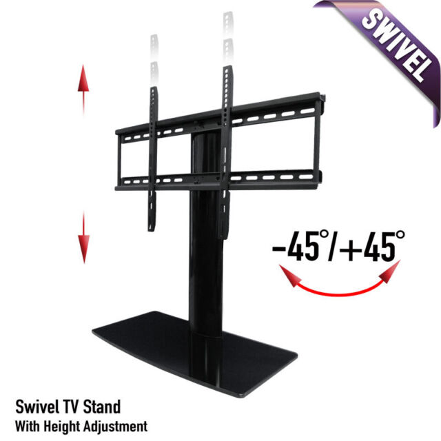 Universal Tabletop Tv Stand With Swivel And Height Adjustable Screen