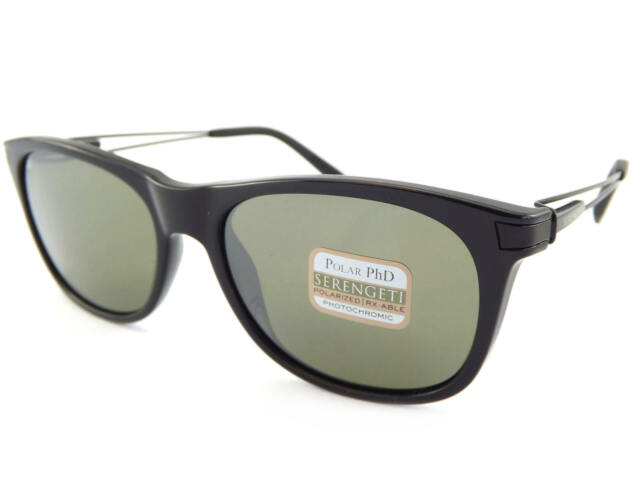 ca533dbc07 SERENGETI - PAVIA polarized Sunglasses Shiny Black   PhD 555nm Green Lenses  8195