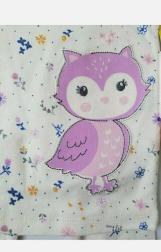 Wonder nation Baby Girl Lavender Owl Snug Fit Cotton Pajama Set  12M