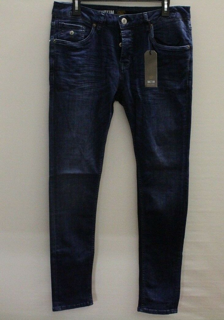 Victim The Don strech Jeans Blau   Größe W33 L34 (K142)