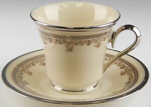 Lenox-China-LACE-POINT-Cup-and-Saucer-Set