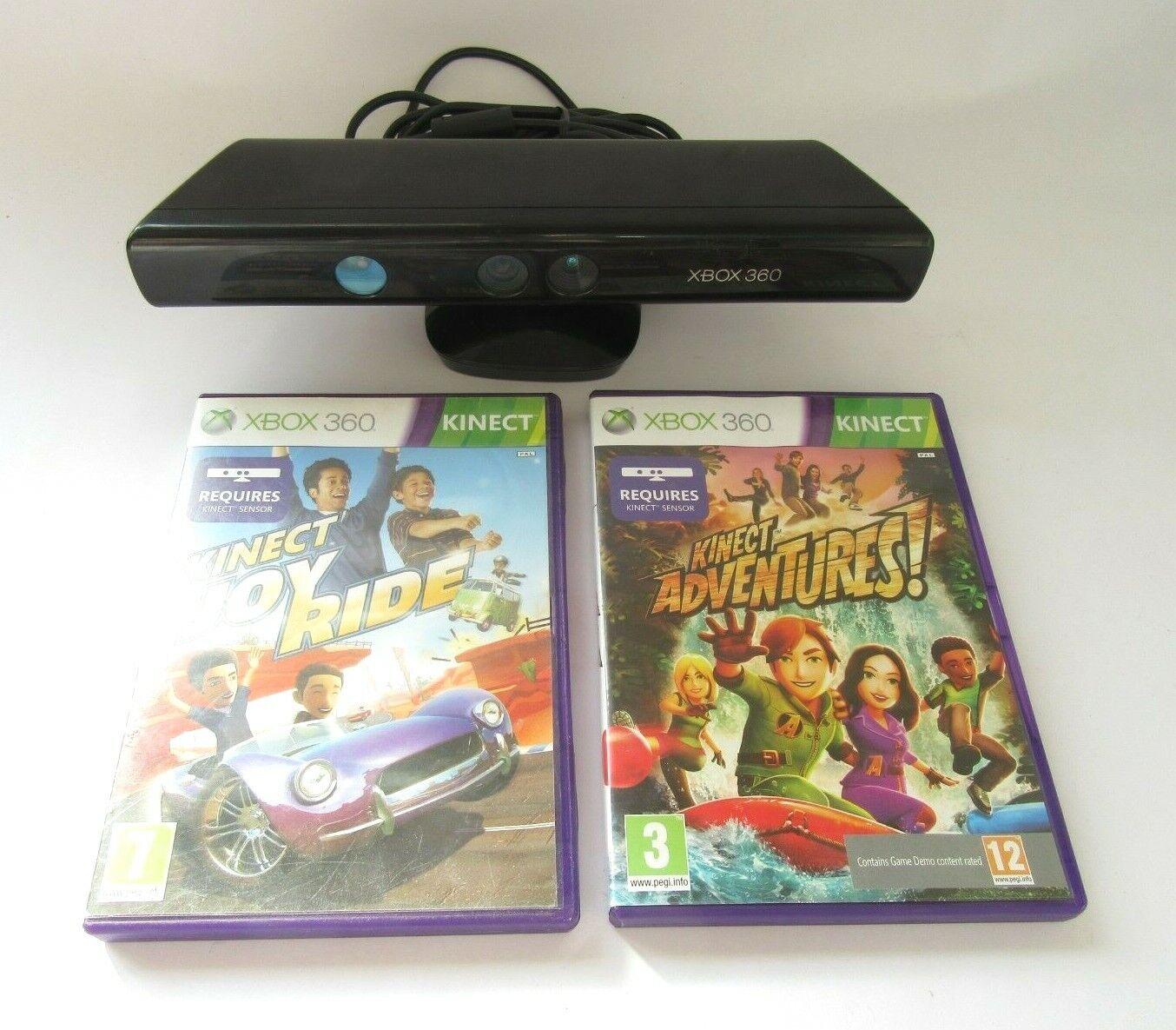 Official Microsoft Xbox 360 Kinect Sensor Bar With 2 Kinect Games PAL