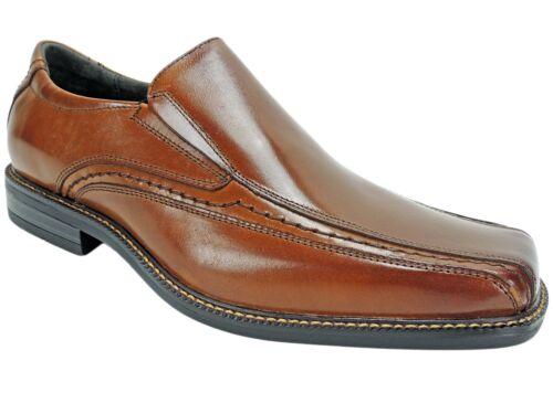 Stacy Adams Men/'s Dalen Bike Toe Loafers Cognac Leather Size 8 M