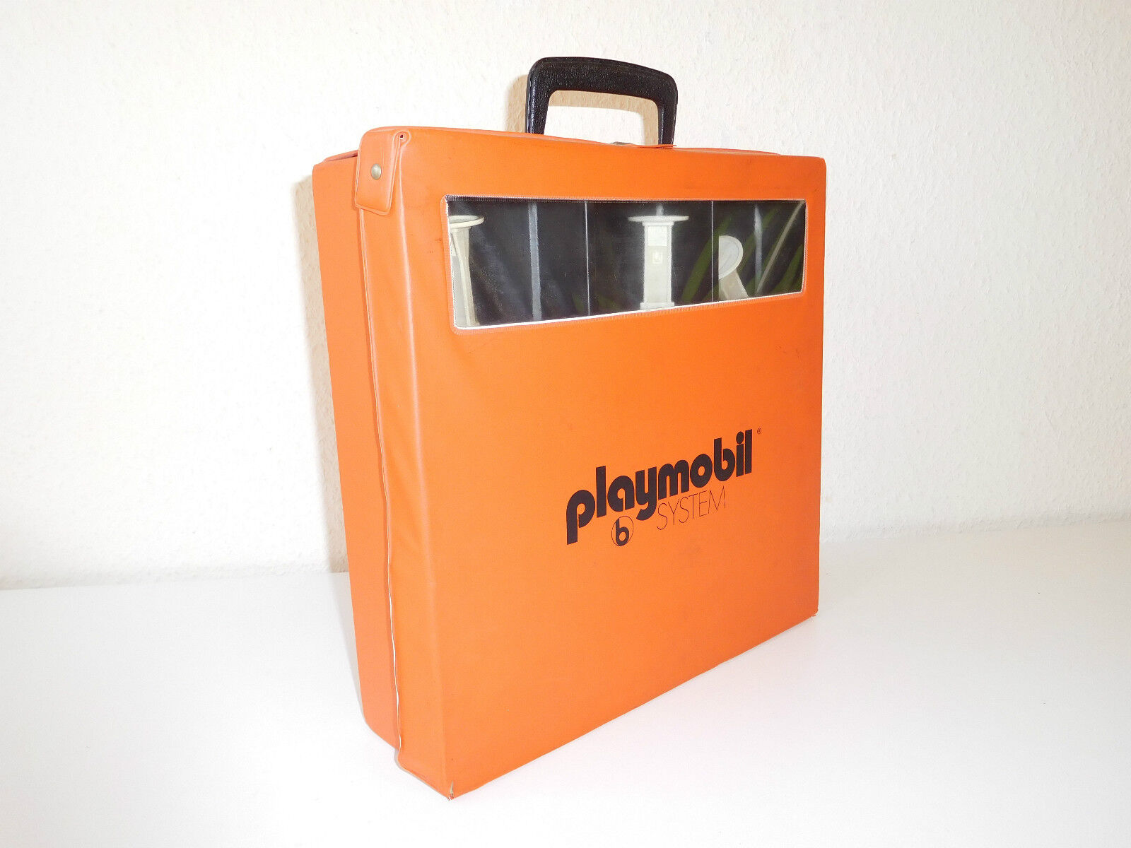 Orange playmobil collector collector collector case  sammlerkoffer with contents b5299b