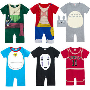 Toddler Baby Boy Short Sleeve Rompers Jumpsuit Outfit Clothes Summer Playsuit UK