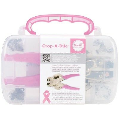 Crop-A-Dile Pink Punch Eyelet Setter With Case & Eyelets by We R Memory Keeper